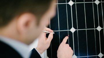 Nahaufnahme Solarmodule