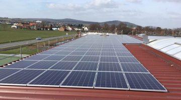 Aufnahme der Solaranlage