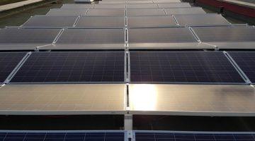 Nahaufnahme der Solaranlage