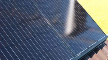 Nahaufnahme der Solarmodule
