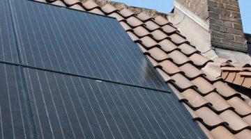 Frontaufnahme der Solarmodule