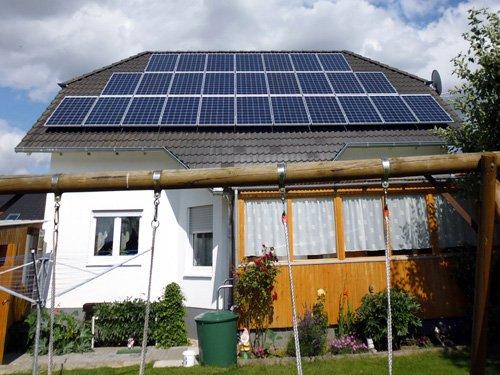 Photovoltaikanlage auf Haus in Volkmarsen