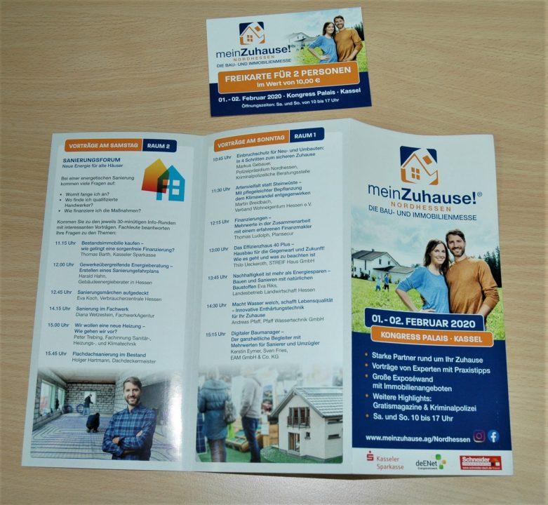 Freikarten für die Bau- und Immobilienmesse meinZuhause zu gewinnen!