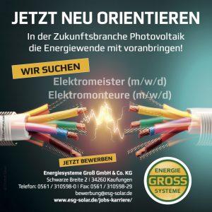 Stellenanzeige Elektromeister (m/w/d) und Elektromonteure (m/w/d)