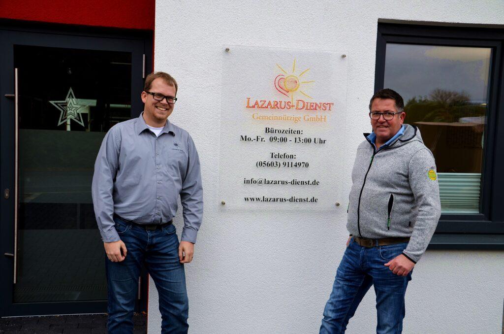 Hendrik Bargheer und Dirk Diegel, Fachberater von Energiesysteme Groß